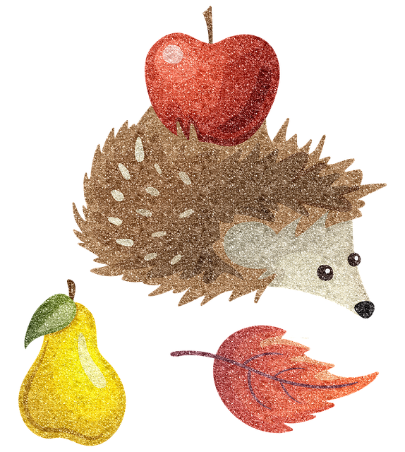 Fall Animals Squirrel Hedgehog  - AnnaliseArt / Pixabay